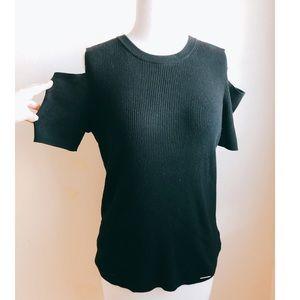 Michael Kors Cut Out Shoulder Knit Top